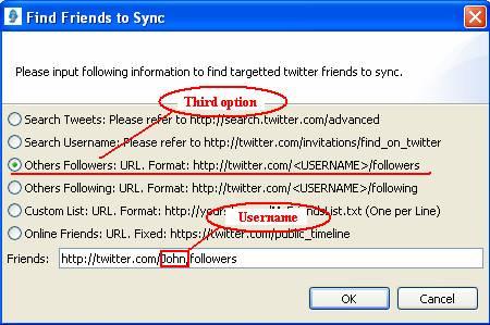 Tweet Following - Help - SyncAdderandRemover in